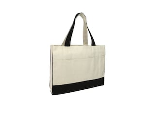 Gusseted Heavy Canvas Tote Bags Two Color