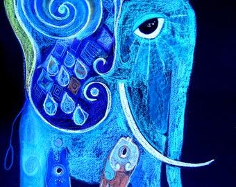 Blue Elefant/ Blauer Elefant (2017)
