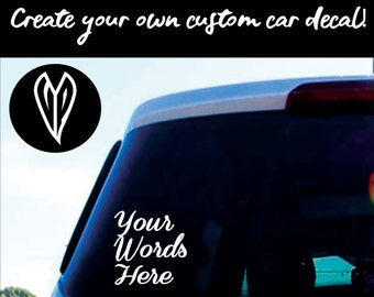 Custom Car Decals Etsy - Custom car stickers