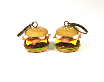 Cheeseburger earring