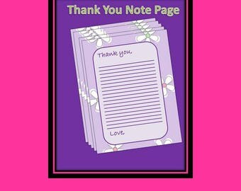 Thank You Note Page