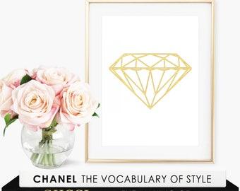 Diamond Print / Geometric Print Art / Diamond Art Prints / Modern Art Prints Geometric / Geometric Wall Art / Modern Wall Decor / Wall Art
