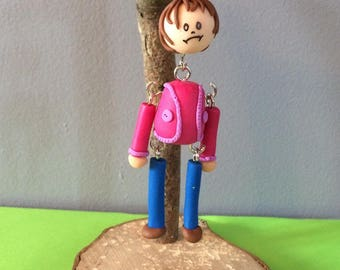 Hangman made of polymer clay
