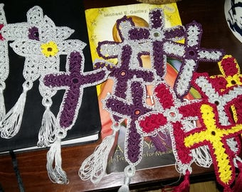 Crochet,bookmark,cotton