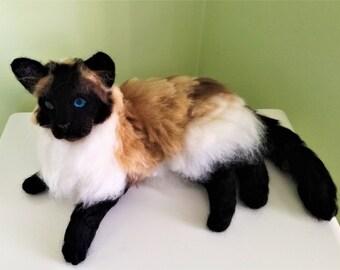 FELTED RAGDOLL CAT