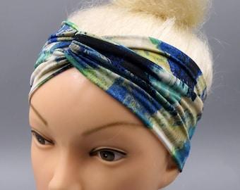 Turban Twist Headband,Splash of color,Retro Hair Accessory,Turband,Turband Headband,Headwraps,Workout Headband,Running Headband Jersey,beach