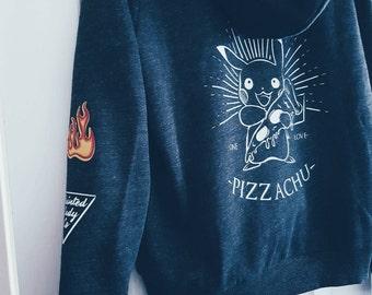 Pizzachu ladies hoodie