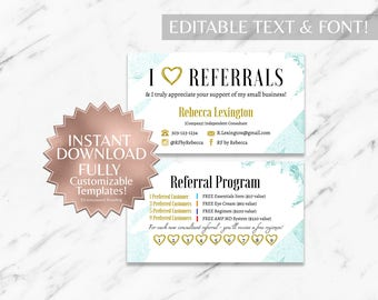 Mint|Floral|Business Cards|RF Business Cards|Rodan and Fields Business Cards|Rodan and Fields|Rodan and Fields Referral Card|Rodan Fields