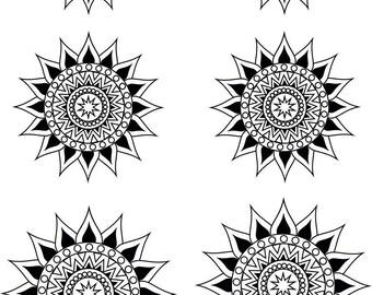 Silk screen stencil No. 100
