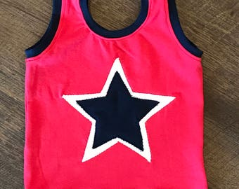 Baby/toddler Fourth of July tank top /children clothing/baby tank top/baby star shirt/red, white and blue shirt