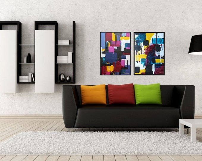 Question the past 35x50cm Original Abstract Painting