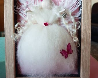 Needle Felt Fairy Picture Frame, Needle Felt Fairy, Waldorf Inspired, Fairy Picture