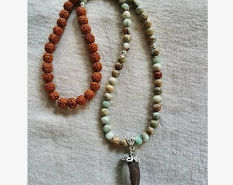 Shiva Lingam beaded necklace