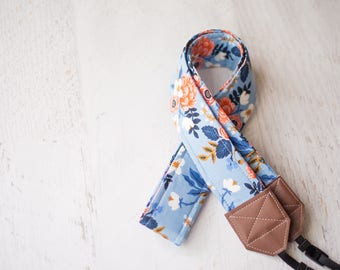 floral camera strap, camera accessory, dslr camera strap, photographer gift, womens gift, womens accessory, camera strap, padded strap