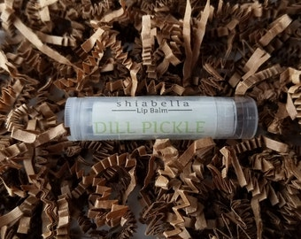 Dill Pickle Lip Balm - Flavored Lip Balm - Dry Lips - Chapstick - Lip Care - Handmade