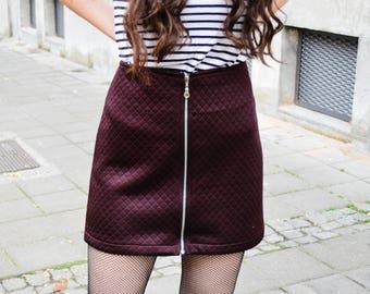 Elegant skirt Mini skirt Winter skirt Beautiful women mini skirt Casual skirt Women fashion skirt Burgundy skirt Fashion women skirt
