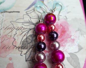 Beady eyed Pink Beads Long dangles