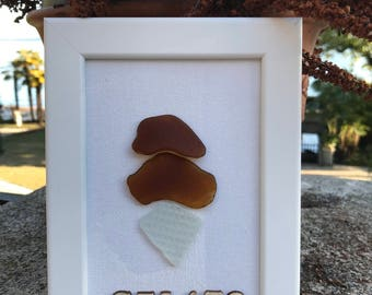 Gelato - Sea Glass Framed Art #3A