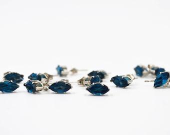 Zircon Silver Stud Earrings