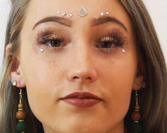 Wooden Bead Pine Cone Earrings