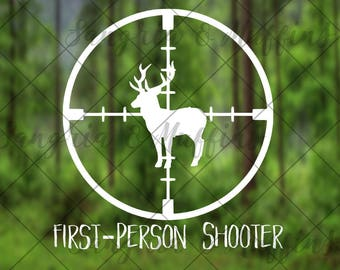 First-Person Shooter Hunting decal - car, window, laptop, tablet decal - pnw love, pnw pride, pnw decal, Washington State decal, WA Love