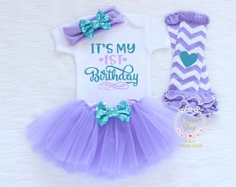 First Birthday Outfit Girl, Mermaid 1st Birthday Outfit, It's My 1st Birthday 1st Birthday Outfit, 1st Birthday Girl, 1st Birthday Gift BF33