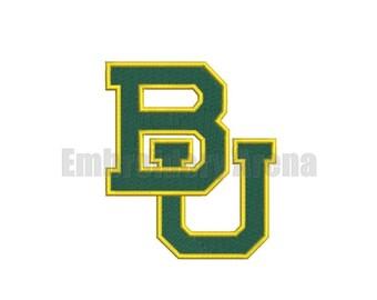 Football embroidery design - (Baylor Bears) - instant DOWNLOAD digital file