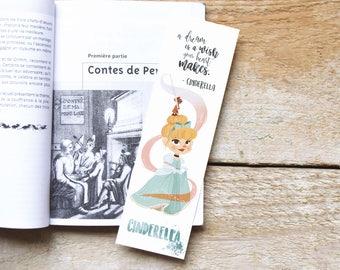 Cinderella bookmark. quote in English