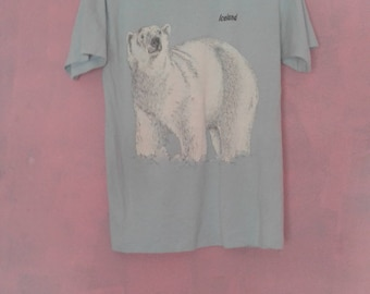 Polar Bear Iceland Shirt Size Medium