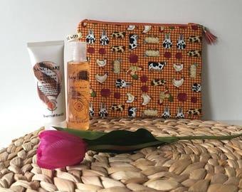 Farm Animals/ Toiletry Bag/ Makeup Bag / Cosmetic bag/ Travel bag
