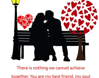 One I Love Valentine's Day Card 1