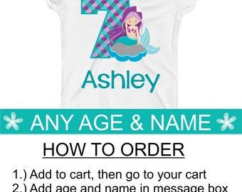 Mermaid Birthday Party, Mermaid Birthday Shirt 1 2 3 4 5 6 7 8 9 19 1st 2nd 3rd 4th 5th 6th 7th 8th 9th 10th Mermaid Birthday Party Supplies