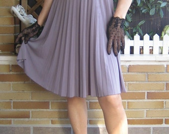 Dress strapless dress, Pleated neckline and strapless dress, gray dress, heavy drop dress in pleated gray color