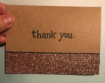 Glitter Thank You Notes (pk of 6)