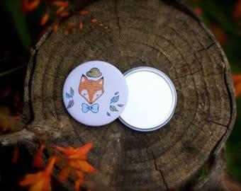 Pocket mirror: Mister fox