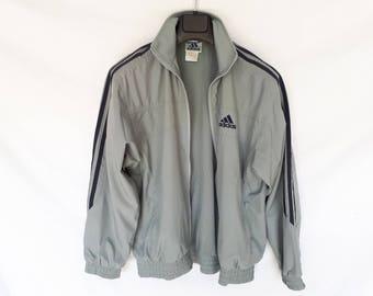Vintage adidas XS jacket navy jacket 90s ADIDAS gray and blue