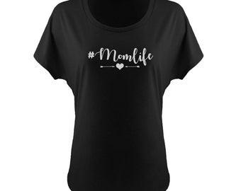 Hashtag Mom Life off the Shoulder T-shirt, Hashtag Mom Life Slouchy T-shirt