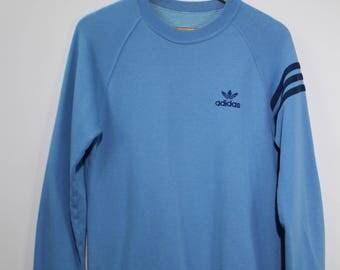 ADIDAS THREE STRIPES Sweatshirt Vintage Jumper 90s Embroidery Logo Adidas Sport