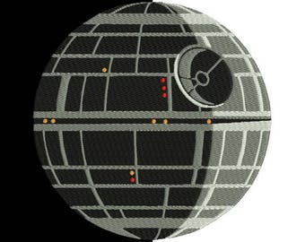 Death Star embroidery design - Machine Embroidery Design - INSTANT DOWNLOAD - kids design - 9 sizes - 9 file formats