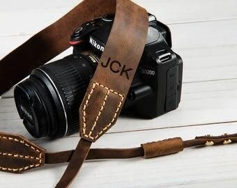 Leather Camera Strap Personalized Camera Strap Vintage Camera Strap Dslr Camera Strap Canon Camera Strap Leather