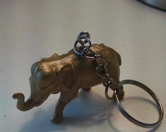 Gold Color Elephant Key Chain