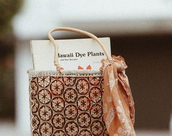 Vintage Wicker Purse / Hawaiian Wicker Purse