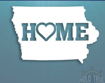 Iowa Decal - PICK COLOR and SIZE - Iowa Home Decal - Ia Decal - Ia sticker - Iowa Car Decal - Iowa sticker - Iowa car sticker