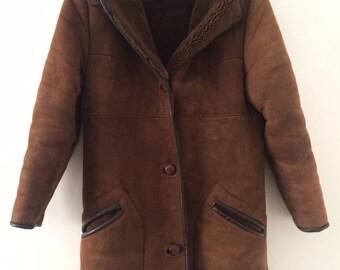 Brown Vintage Shearling Coat