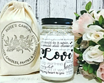 Valentines Gift For Her - Love Candle - Valentines For Boyfriend - Valentines Gift - Anniversary Gift - Valentines Candle - Gift For Him