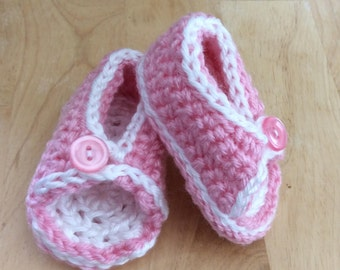Peek-A-Boo Baby Sandals Pink