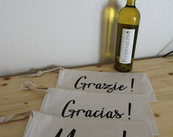 Thank You in Any Language Wine Gift Bag