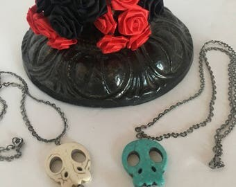 Dia de los muertos necklace/ Halloween jewelry