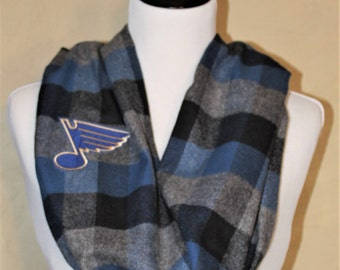 St Louis Blues Flannel Infinity Scarf