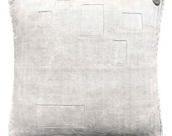 "Antique German Grain Sack Pillow from 1900  18 x 18"""